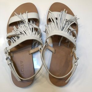 J Crew fringe sandals size 8